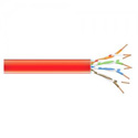 Black Box EVNSL0616A-1000 RED Cat6 400-MHz Shielded Plenum Cable - Red - 1000 Foot