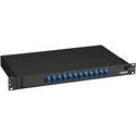Black Box JPM380A Rackmount Preloaded Fiber Enclosure With 12 Port Feedthru Duplex LC Connectors - SM or MM 1 RU