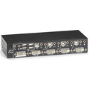 Black Box KV9604A-K DT Series ServSwitch DT DVI 4-Port with Transparent USB 2.0 Kit
