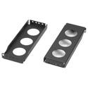 Black Box REB2-2U-6 Rail Extension Bracket Kit 2U 6-Inch Uprights 2 Brackets and Box