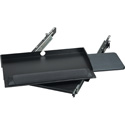 Black Box RM385 2U Sliding Pivoting 19-Inch Rackmount Keyboard / Mouse Tray 9.5-Inch D