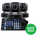 BirdDog Studio BDP200MAYPROMO-B 3x Eyes P200 1080P Full NDI PTZ Camera w/ HDMI/3G-SDI & FREE Keyboard Controller - Black