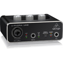 Behringer UM-2 Audiophile 2x2 USB Audio Interface with XENYX Mic Preamplifier