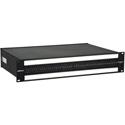 Bittree B96DC-HNAIT/ID M2OU12B 2RU Black 2x48 TT Bantam Patchbay Mono Spaced w/ 2 Designation Strips Front Programmable