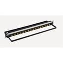 Bittree BH-B116A1B12 12GHz 4K/8K Single-Link BNC Coaxial Bulkhead Patch Panel with Designation Strip - 1x16 1RU