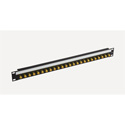 Bittree BH-B124A1B12 12GHz 4K/8K Single-Link BNC Coaxial Bulkhead Patch Panel with Designation Strip - 1x24 1RU