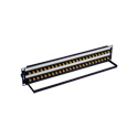 Bittree BH-B224A2B12 12GHz 4K/8K Single-Link BNC Coaxial Bulkhead Patch Panel with Designation Strip - 2x24 2RU