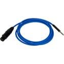 Bittree BPCXF4806-110 XLR Female to 1/4-inch TT Bantam Longframe Patch Cable - 110 Ohm - Blue