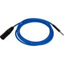 Bittree BPCXM4806-110 XLR Male to 1/4-inch TT Bantam Longframe Patch Cable - 110 Ohm - Blue