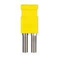 Bittree LP7504 Looping Plug (Standard Size WECO Video) Yellow