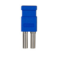 Bittree LP7506 Looping Plug (Standard Size WECO Video) Blue