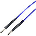 Bittree LPC4806-110 1/4 Inch Long-Frame 110 Ohm Audio Patch Cables - 4 Feet - Blue