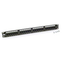 Belkin F4P338-24-AB5 24-Port CAT 5e Patch Panel - Black