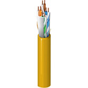 Belden 10GX13 CAT6A Cable - 23AWG - Bare Copper - 4 Pair - Unshielded - Yellow - 1000 Foot