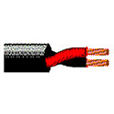 Belden 1313A 2 Conductor 10AWG Stranded Bare Copper Speaker Cable - Black - 500 Foot