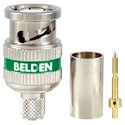 Belden 1694ABHD3 3-Piece HD BNC Crimp Connector for 1694A RG6/Green Band