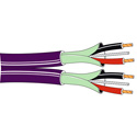Belden 1802B 2 Pair 24 AWG Tinned Copper Digital Audio Cable - Violet - 500 Foot