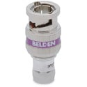 Belden 1855ABHD1 1-Piece 6GHz BNC Compression Connector for Belden 1855A or 22-24 AWG Mini RG59 Coax