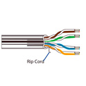 Belden 2413F 23AWG Enhanced Category 6 Plenum-CMP Non-Bonded Pair ScTP Cable - White - 1000 Foot