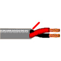 Belden 5400UE 2 Conductor 20AWG Riser-CMR Security & Commercial Audio Cable - Gray - 1000 Foot
