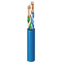 Belden 7883A 0061000 CAT6 Ethernet Cable - 4-Pair - 24 AWG - PVC Jacket  - 1000 FT - Light Blue