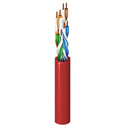 Belden 7883A 0061000 CAT6 Ethernet Cable - 4-Pair - 24 AWG - PVC Jacket  - 1000 FT - Red