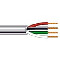 Belden 8489 Non-Paired - Four-Conductor 18 AWG Control Cable - Chrome - 1000 Foot Unreeled