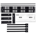 Belden AX103249 KeyConnect AngleFlex Modular Blank Keystone Patch Panel - 48-Port x 2RU - Black (Empty)
