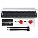 Belden AX103255 2RU 48-Port CAT6+ KeyConnect Patch Panel - Black