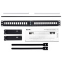 Belden AX104599 KeyConnect Angled Modular Keystone Patch Panel - 24 Port x 1RU - Black (Empty)