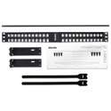 Belden AX104600 KeyConnect Angled Modular Keystone Patch Panel - 48 Port x 1RU - Black (Empty)
