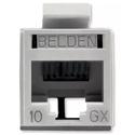 Belden RVAMJKUGY-B24 REVConnect 10GX UTP Modular Jack - Gray - 24 Pack
