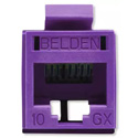 Belden RVAMJKUPR-B24 REVConnect 10GX UTP Modular Jack - Purple - 24 Pack