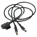 Camplex BLACKJACK DC 2.5mm Plug & 2.1mm Plug to P-TAP Y-Cable - 4Ft