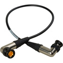 Laird BMD-BRABRA-1 3G-SDI Right Angle BNC to Right Angle BNC Video Cable - Black - 1 Foot