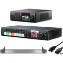Blackmagic Design Web Presenter HD & ATEM Television Studio HD Combo with Teranex Mini Rack Shelf