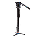 Benro A48FDS6 Aluminum Video Monopod 69 Inch Kit with S6 Head and 3 Leg Base