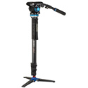 Benro A48FDS6PRO Classic Video Monopod with S6 PRO Flat Base Video Head