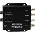 BroaMan REPEAT8-NANO-4IN-3G Converter for 4x 3G-SDI Input to Single Mode Fiber up to 80km