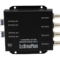 BroaMan REPEAT8-NANO-4OUT-3G Converter for Single Mode Fiber to 4x 3G-SDI