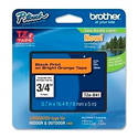 Brother TZeB41 18mm Black on Fluorescent Orange Tape for P-Touch 5m