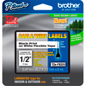 Photo of  Brother TZeFX231 0.47in x 26.2 ft (12mm x 8m) Black on White Flexible ID