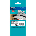 Brother TZeFX241 0.7 in x 26.2 ft (18 mm x 8 m) Black on White Flexible ID