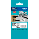 Brother TZeFX251 0.94in x 26.2 ft (24mm x 8 m) Black on White Flexible ID