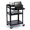 Bretford CA2642NS AV Notebook Cabinet Cart - No Electrical - 4 Inch Casters
