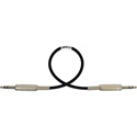 Sescom BSC100SZSZ Audio Cable Belden Star-Quad 1/4 Inch TRS Balanced Male to Male Black - 100 Foot