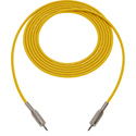 Sescom BSC25MMYW Audio Cable Belden Star Quad 3.5mm TS Mono Male to 3.5mm TS Mono Male Yellow - 25 Foot
