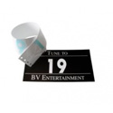 BroadcastVision BVTN Tune To Sign w/Numeric Vinyl Numbers 1-10