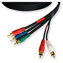 Kramer 5 RCA (M) - 5 RCA (M) Cable (3 RG-59 for Component Video)