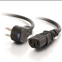 C2G 27900 1.5 Feet 18 AWG Universal Flat Panel Power Cord (NEMA 5-15P to IEC320C13)